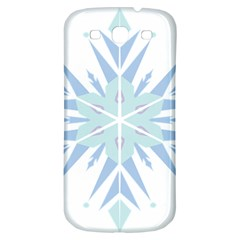 Snowflakes Star Blue Triangle Samsung Galaxy S3 S Iii Classic Hardshell Back Case