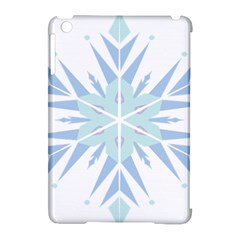 Snowflakes Star Blue Triangle Apple Ipad Mini Hardshell Case (compatible With Smart Cover)