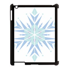 Snowflakes Star Blue Triangle Apple Ipad 3/4 Case (black)