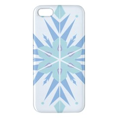 Snowflakes Star Blue Triangle Iphone 5s/ Se Premium Hardshell Case