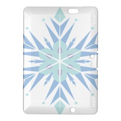 Snowflakes Star Blue Triangle Kindle Fire Hdx 8 9  Hardshell Case