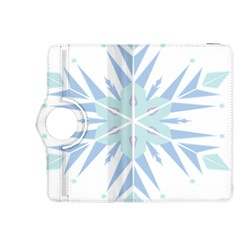 Snowflakes Star Blue Triangle Kindle Fire Hdx 8 9  Flip 360 Case
