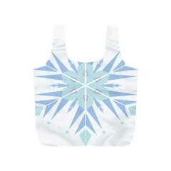 Snowflakes Star Blue Triangle Full Print Recycle Bags (s)