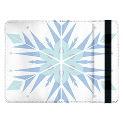 Snowflakes Star Blue Triangle Samsung Galaxy Tab Pro 12 2  Flip Case