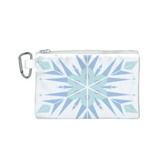 Snowflakes Star Blue Triangle Canvas Cosmetic Bag (s)