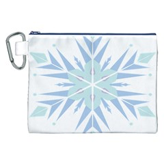 Snowflakes Star Blue Triangle Canvas Cosmetic Bag (xxl)