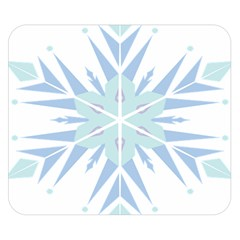 Snowflakes Star Blue Triangle Double Sided Flano Blanket (small)