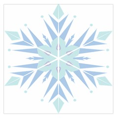 Snowflakes Star Blue Triangle Large Satin Scarf (square)