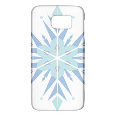 Snowflakes Star Blue Triangle Galaxy S6