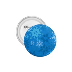 Snowflakes Cool Blue Star 1 75  Buttons