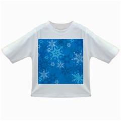 Snowflakes Cool Blue Star Infant/toddler T Shirts