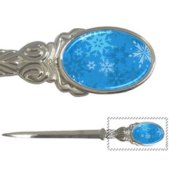 Snowflakes Cool Blue Star Letter Openers