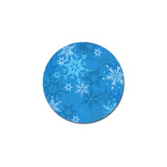 Snowflakes Cool Blue Star Golf Ball Marker (4 Pack)