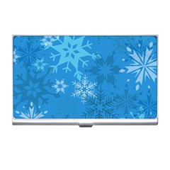 Snowflakes Cool Blue Star Business Card Holders