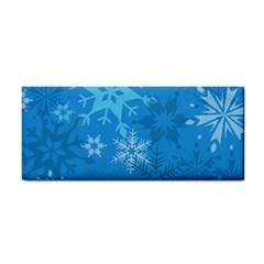 Snowflakes Cool Blue Star Cosmetic Storage Cases