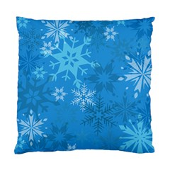 Snowflakes Cool Blue Star Standard Cushion Case (one Side)