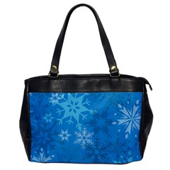 Snowflakes Cool Blue Star Office Handbags