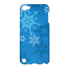 Snowflakes Cool Blue Star Apple Ipod Touch 5 Hardshell Case