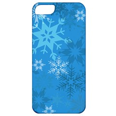 Snowflakes Cool Blue Star Apple Iphone 5 Classic Hardshell Case
