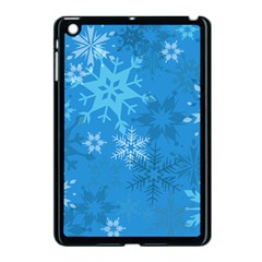Snowflakes Cool Blue Star Apple Ipad Mini Case (black)