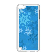 Snowflakes Cool Blue Star Apple Ipod Touch 5 Case (white)