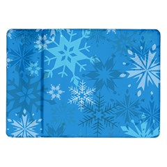 Snowflakes Cool Blue Star Samsung Galaxy Tab 10 1  P7500 Flip Case