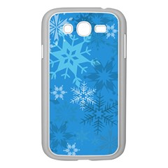 Snowflakes Cool Blue Star Samsung Galaxy Grand Duos I9082 Case (white)