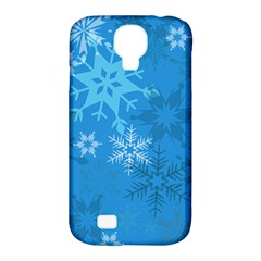 Snowflakes Cool Blue Star Samsung Galaxy S4 Classic Hardshell Case (pc+silicone)