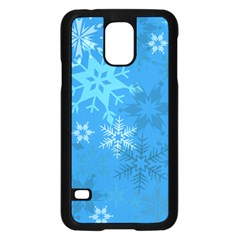 Snowflakes Cool Blue Star Samsung Galaxy S5 Case (black)