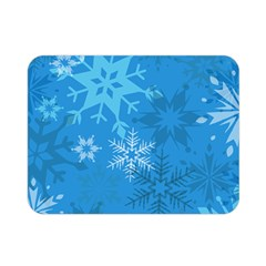 Snowflakes Cool Blue Star Double Sided Flano Blanket (mini)