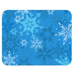 Snowflakes Cool Blue Star Double Sided Flano Blanket (medium)