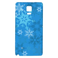 Snowflakes Cool Blue Star Galaxy Note 4 Back Case