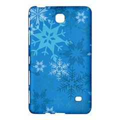 Snowflakes Cool Blue Star Samsung Galaxy Tab 4 (7 ) Hardshell Case