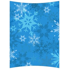 Snowflakes Cool Blue Star Back Support Cushion