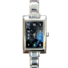 Space Star Blue Sky Rectangle Italian Charm Watch