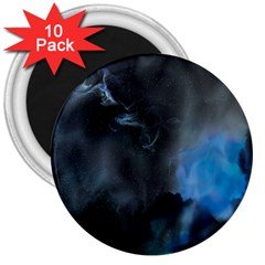 Space Star Blue Sky 3  Magnets (10 Pack)