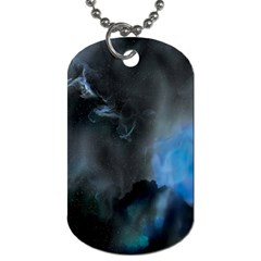 Space Star Blue Sky Dog Tag (one Side)