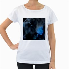 Space Star Blue Sky Women s Loose Fit T Shirt (white)