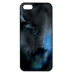 Space Star Blue Sky Apple Iphone 5 Seamless Case (black)
