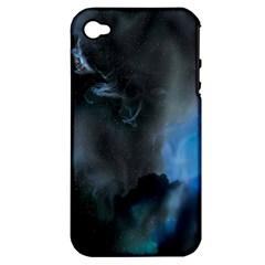 Space Star Blue Sky Apple Iphone 4/4s Hardshell Case (pc+silicone)
