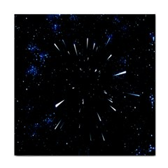 Space Warp Speed Hyperspace Through Starfield Nebula Space Star Line Light Hole Tile Coasters