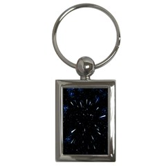 Space Warp Speed Hyperspace Through Starfield Nebula Space Star Line Light Hole Key Chains (rectangle)