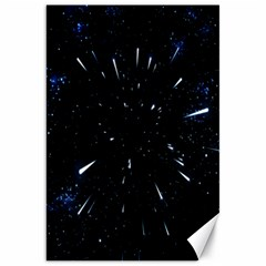 Space Warp Speed Hyperspace Through Starfield Nebula Space Star Line Light Hole Canvas 20  X 30