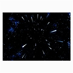 Space Warp Speed Hyperspace Through Starfield Nebula Space Star Line Light Hole Large Glasses Cloth