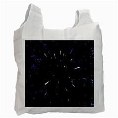 Space Warp Speed Hyperspace Through Starfield Nebula Space Star Line Light Hole Recycle Bag (two Side)