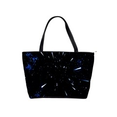 Space Warp Speed Hyperspace Through Starfield Nebula Space Star Line Light Hole Shoulder Handbags