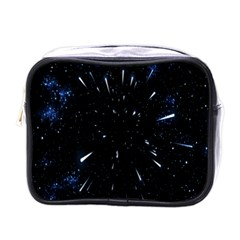 Space Warp Speed Hyperspace Through Starfield Nebula Space Star Line Light Hole Mini Toiletries Bags
