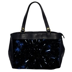 Space Warp Speed Hyperspace Through Starfield Nebula Space Star Line Light Hole Office Handbags (2 Sides)