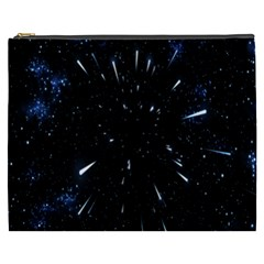 Space Warp Speed Hyperspace Through Starfield Nebula Space Star Line Light Hole Cosmetic Bag (xxxl)