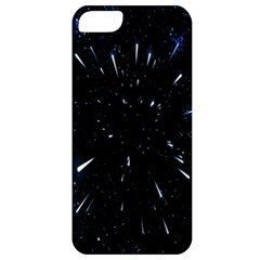 Space Warp Speed Hyperspace Through Starfield Nebula Space Star Line Light Hole Apple Iphone 5 Classic Hardshell Case